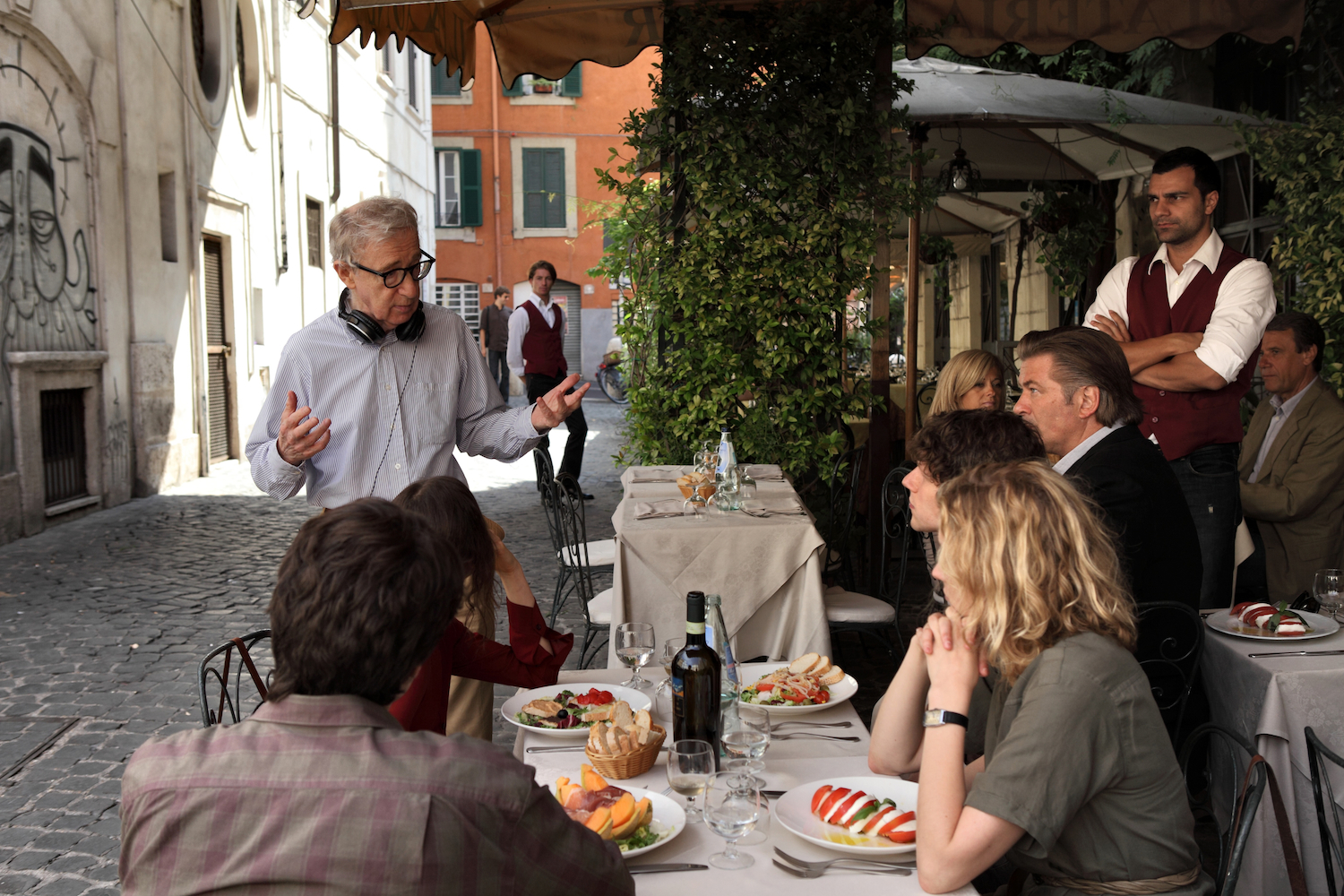 Woody Allen directing in Rome