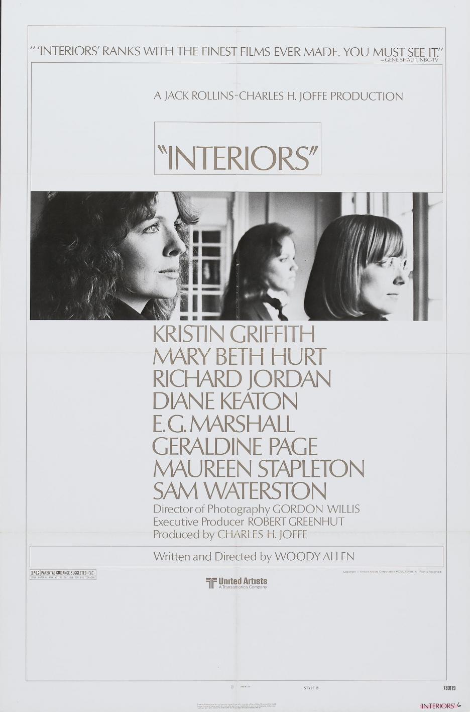 cinematographer gordon willis would use that title for his only directorial effort in 1980 it was diane keaton who suggest the title interiors