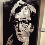 Woody Allen portrait made of Woody Allen articles