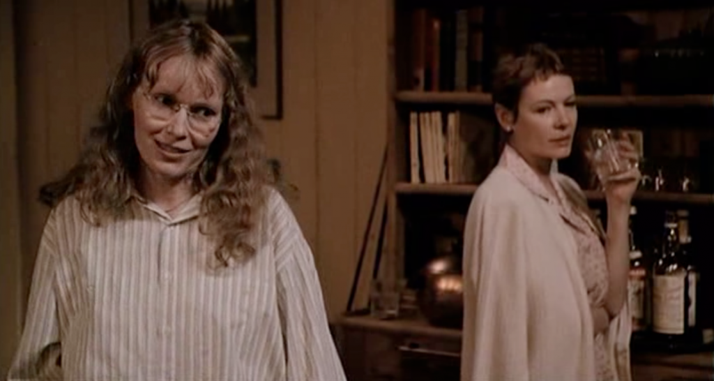 Mia Farrow and Dianne Wiest