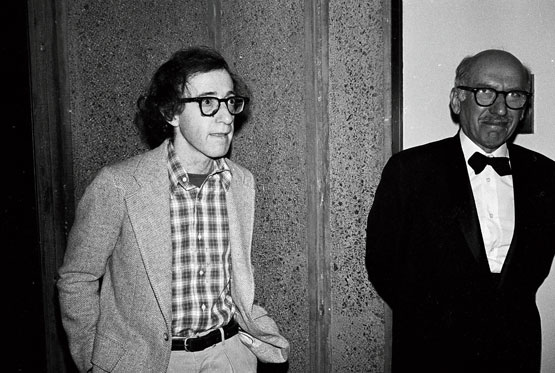 Woody Allen with Saul Steinberg