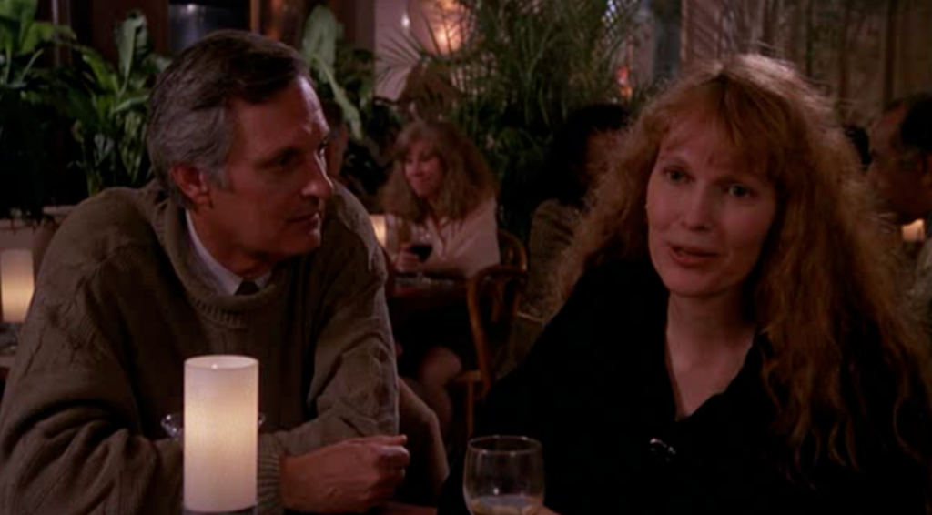 Alan Alda and Mia Farrow in Crimes And Misdemeanors