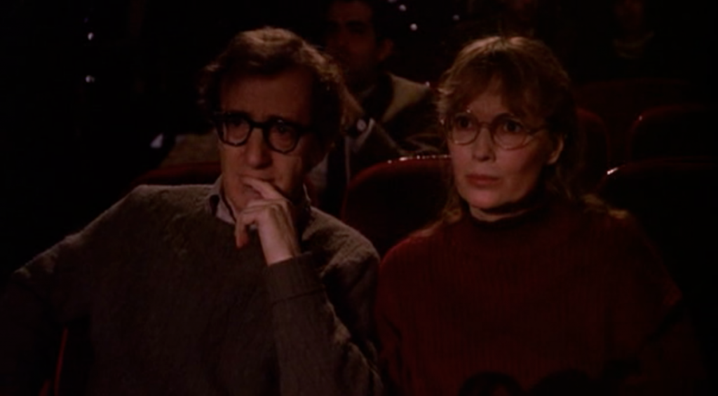Woody Allen and Mia Farrow in Crimes And Misdemeanors