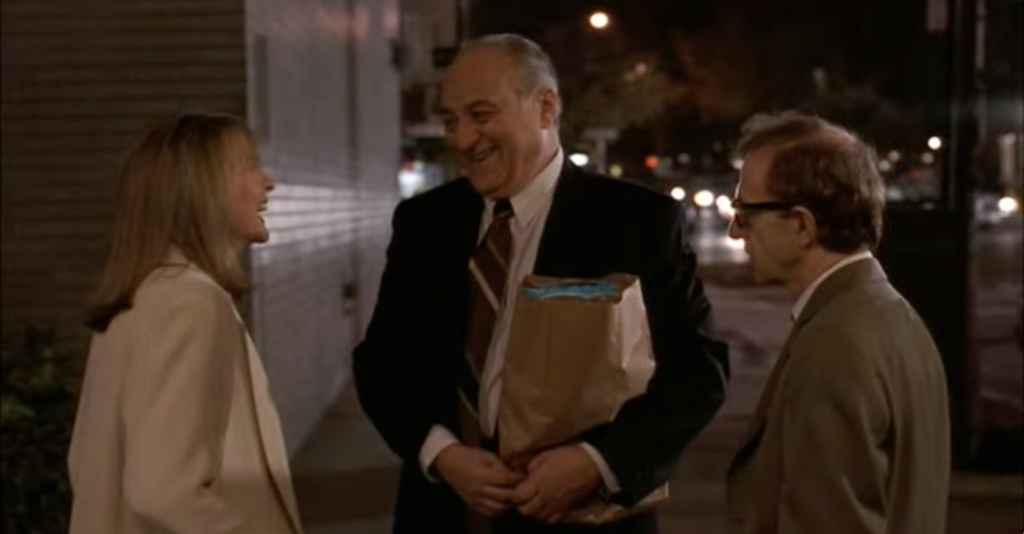 Diane Keaton, Jerry Adler and Woody Allen in Manhattan Murder Mystery