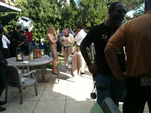 Cate Blanchett, Woody Allen and Peter Sarsgaard filming 'Blue Jasmine'