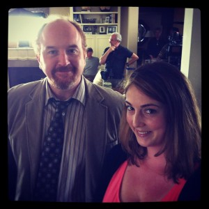 Louis CK with Claire