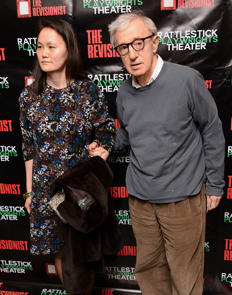 Soon-Yi Previn and Woody Allen at the opening night of 'The Revisionist'