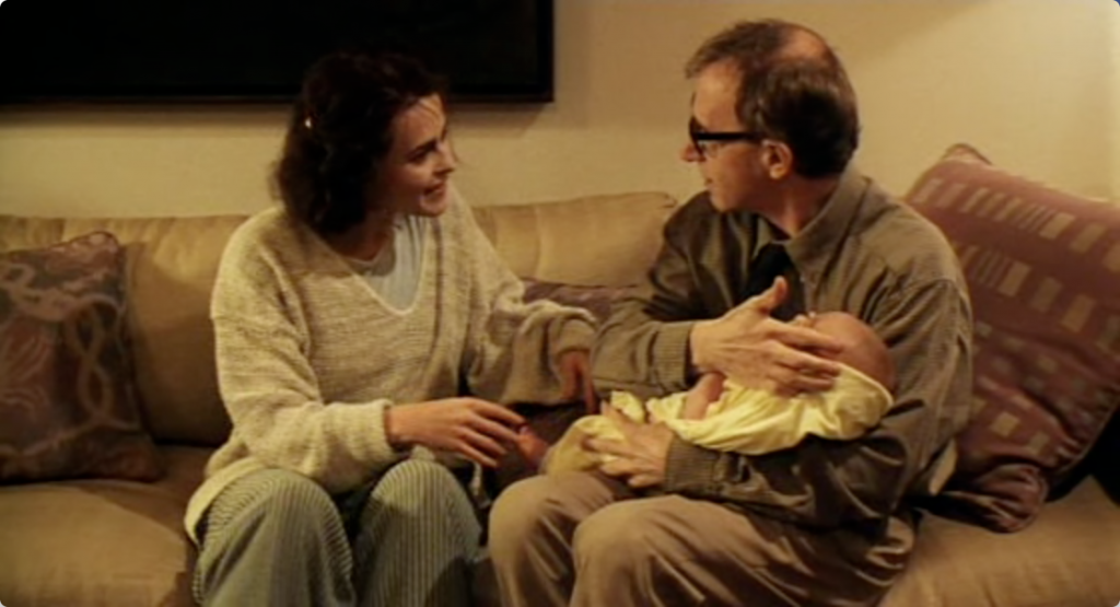 Helena Bonham Carter and Woody Allen in 'Mighty Aphrodite'.