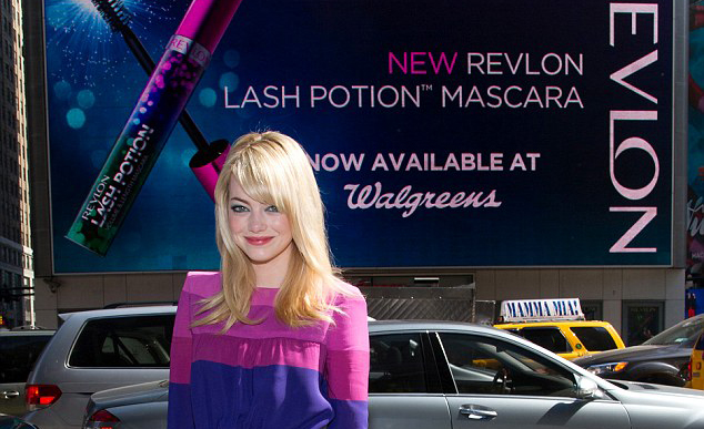 Emma Stone at the Revlon launch, 24/04/2013
