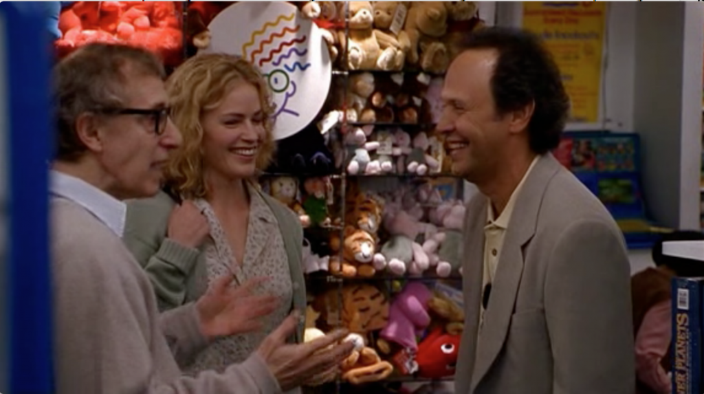 Woody Allen, Elizabeth Shue and Billy Crystal in Deconstructing Harry