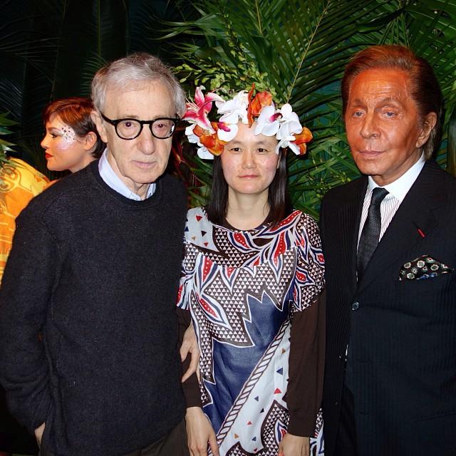 Woody Allen, Soon-Yi Previn, Valentino Garavani