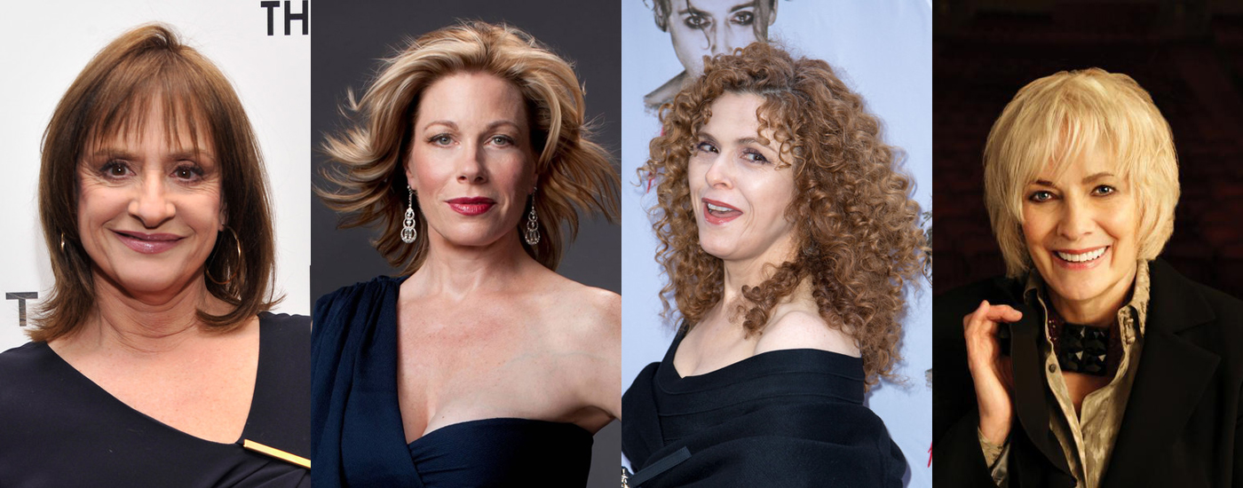l-r: Patti LuPone, Marin Mazzie, Bernadette Peters, Betty Buckley