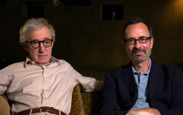 Woody Allen and Robert Weide. © B Plus Productions