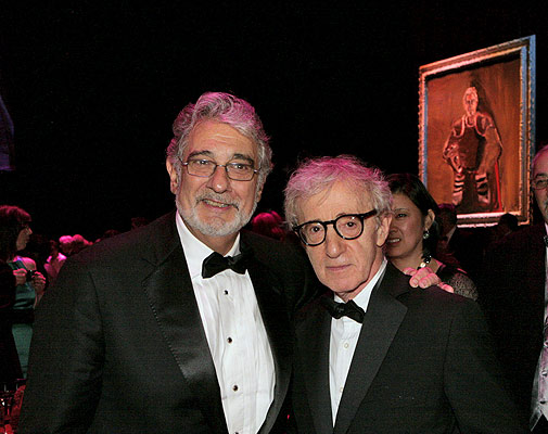 Placido Domingo and Woody Allen in 2008