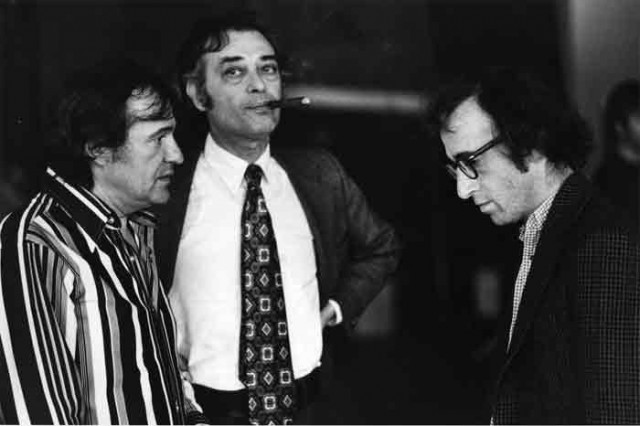 l-r: Charles H Joffe, Jack Rollins, Woody Allen