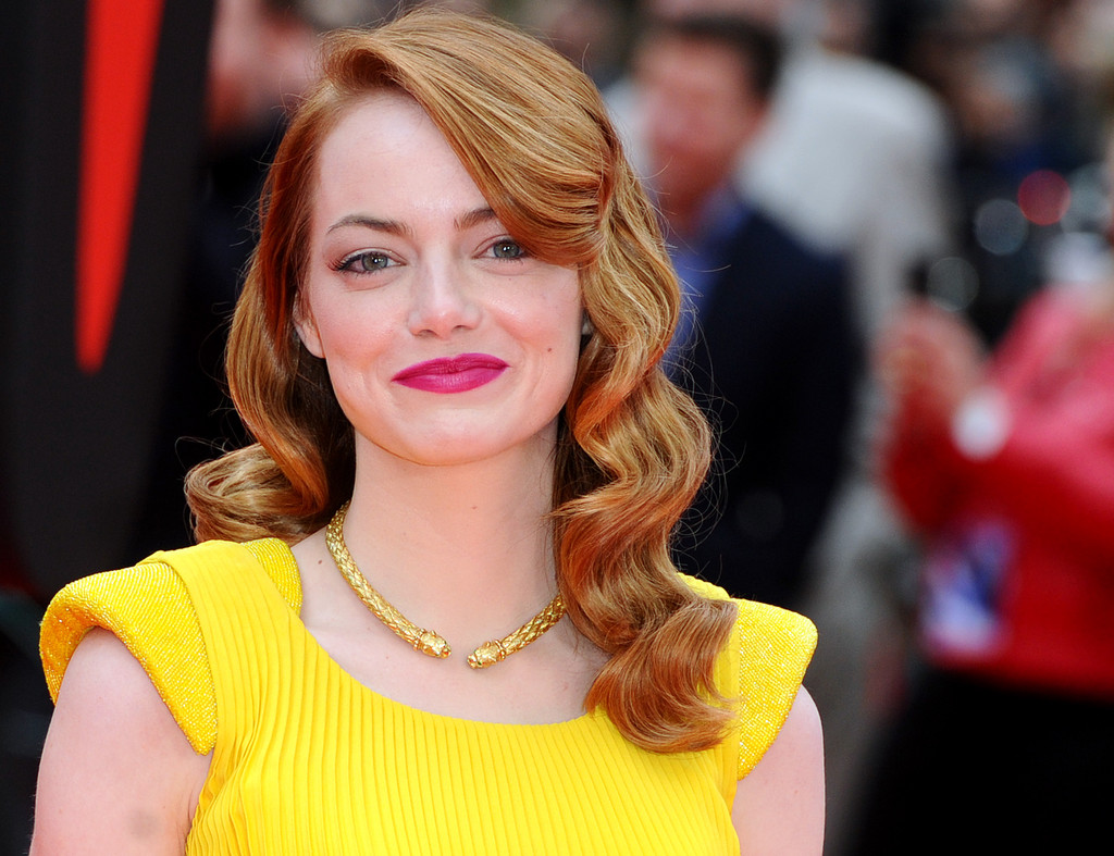 Emma Stone at the Amazing Spider-Man 2 premiere in London