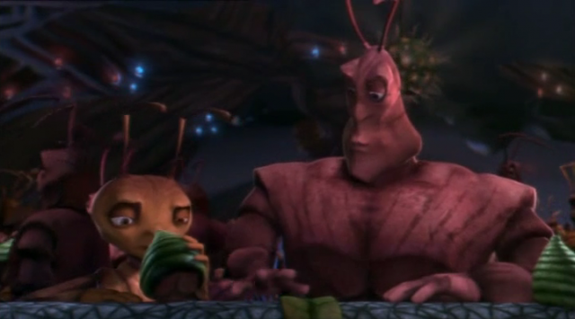 Woody Allen and Sylvester Stallone in Antz