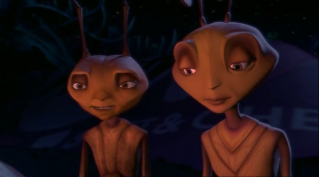 Woody Allen and Sharon Stone in Antz