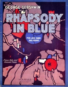 Original 'Rhapsody In Blue' sheet music.