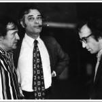 l-r: Charles H Joffe, Jack Rollins, Woody Allen