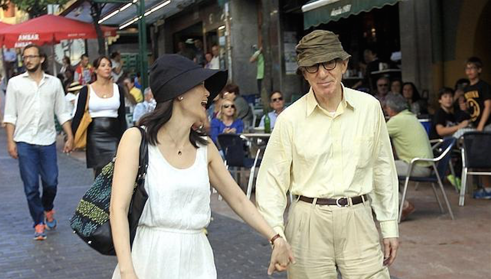 Soon-Yi Previn and Woody Allen holidaying in Oviedo, July 2015