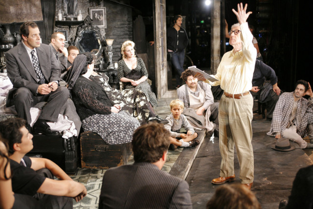 Woody Allen directing the opera Gianni Schicchi in 2008
