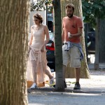 EXCLUSIVE: Kristen Stewart glams up on the set of the untitled Woody Allen Project in Battery Park, NYC