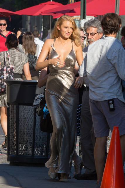 EXCLUSIVE: Blake Lively and Jesse Eisenberg filming in New York.