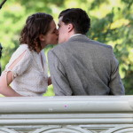 "Kristen Stewart and Jesse Eisenberg kissing at ""Untitled Woody Allen Project' set in NYC"