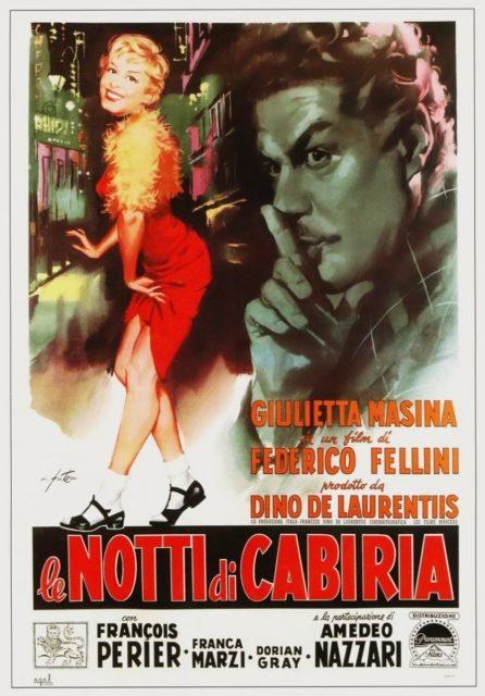 LE NOTTI DI CABIRIA - Italian Poster by Arnaldo Putzu 1