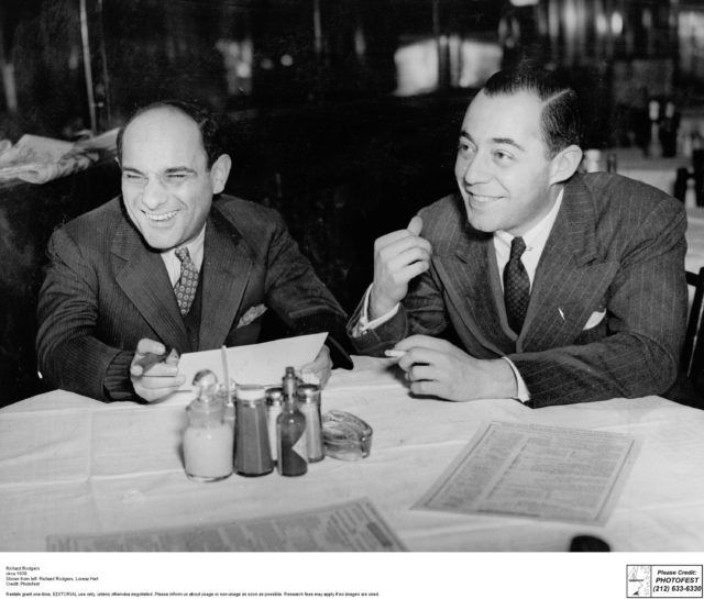 Richard Rodgers circa 1938 Shown from left: Richard Rodgers, Lorenz Hart